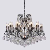 Люстра Crystal Lux MAGNIFICO SP19 BLACK/TRANSPARENT